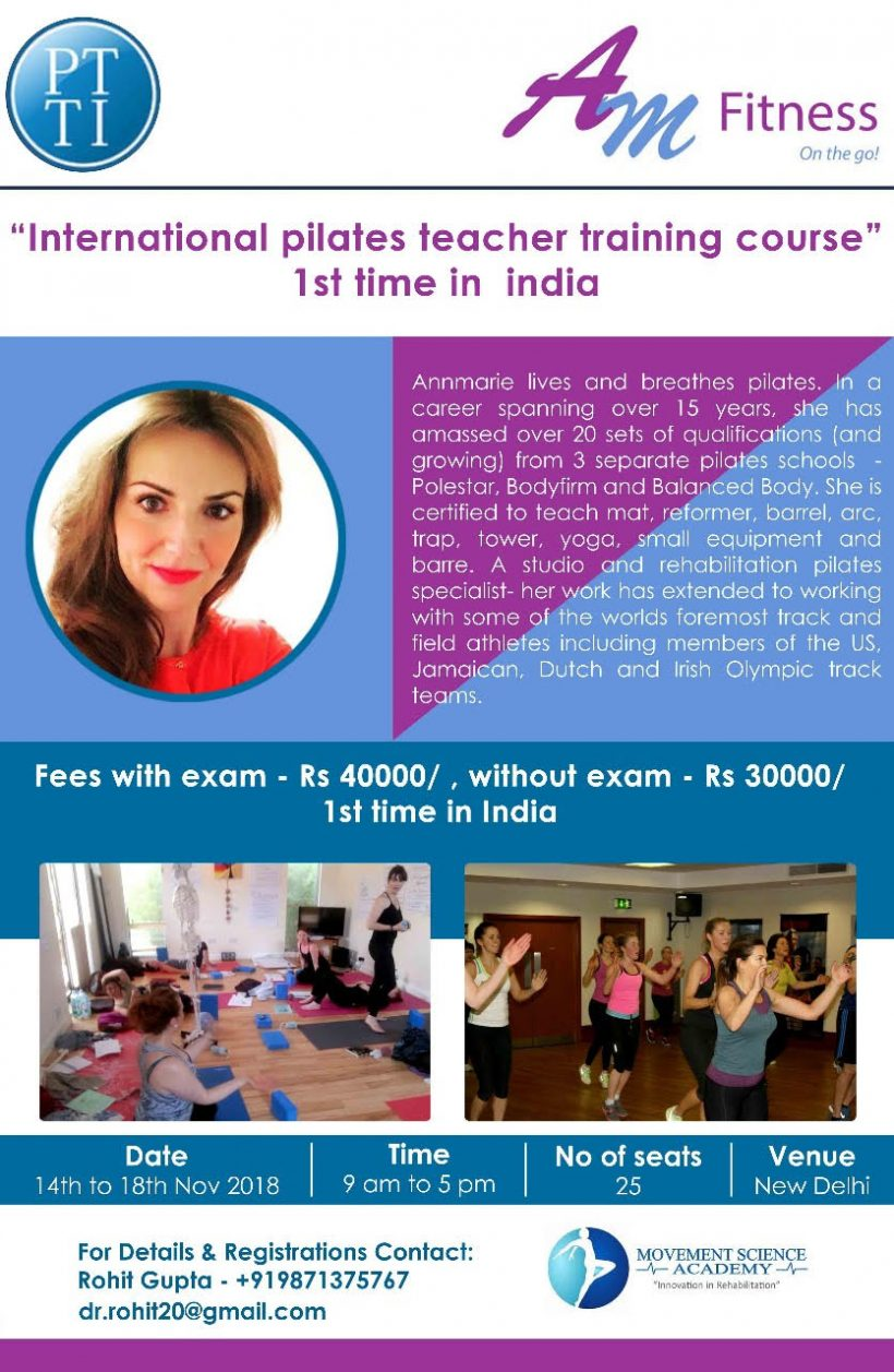 Pilates Teacher Training India