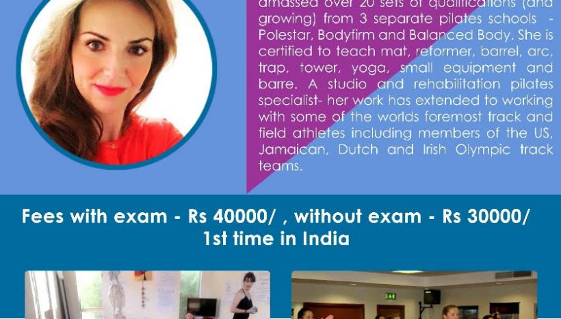 Pilates Teacher training is going to India in November
